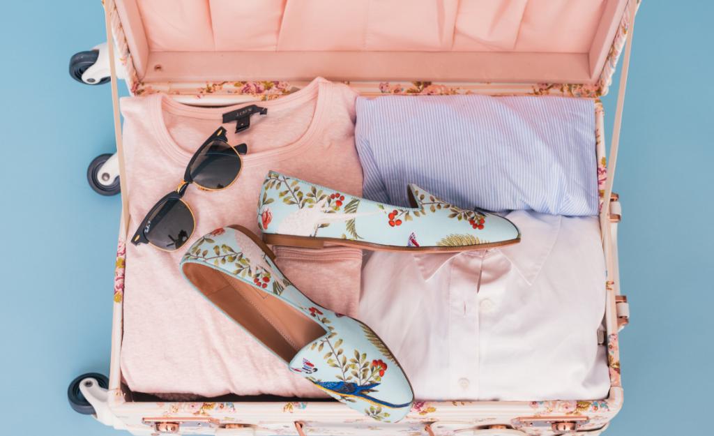foulard di seta bagaglio accessori viaggi