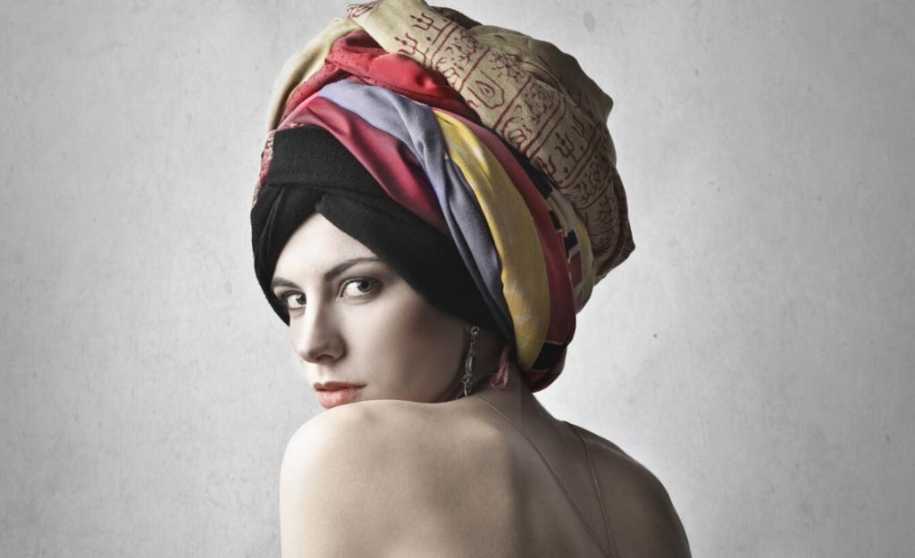 foulard quadrati da mettere in testa